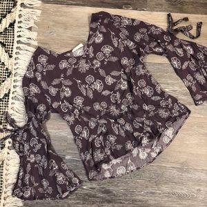 Lavender Floral Top